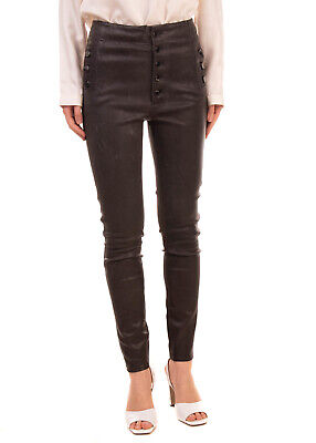 RRP €1110 J BRAND Leather Trousers Size 28 Stretch Worn Look High Waist Skinny
