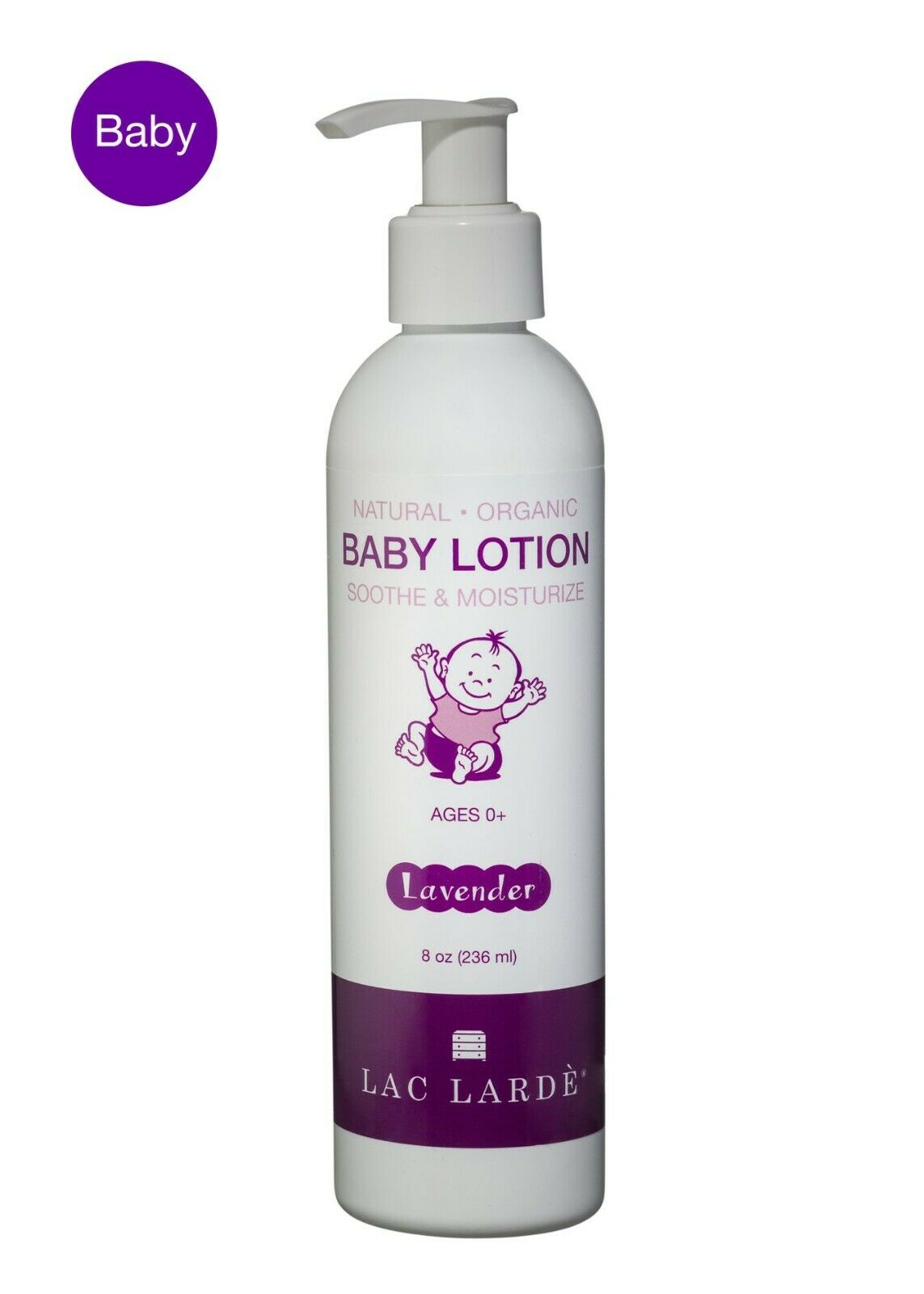 Organic & Natural Baby Lotion, 8 oz. Recommended for Eczema