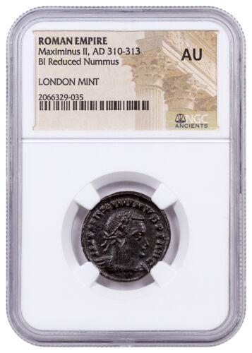 Roman Empire, Billon Nummus Maximinus II AD 311-313 London Mint NGC AU SKU52265