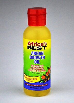 Africa's Best ARGAN GROWTH OIL Hair Strengthening Treatment, 4oz - NEW -