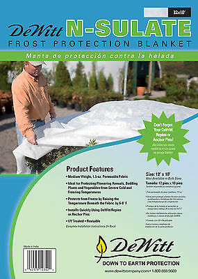 (DeWitt N-Sulate Frost Protection Blanket 10FT. X 12FT. 1.5 oz Freeze Cloth )