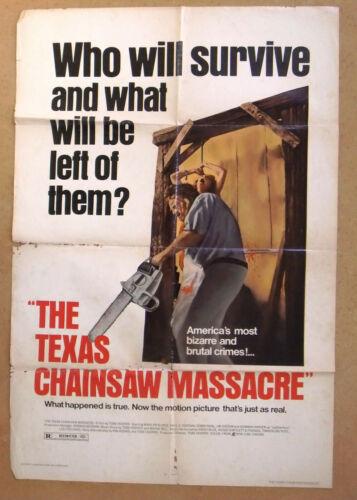 "The Texas Chainsaw Massacre (Marilyn Burns) 41""x27"" Original Movie US Poster 70s"