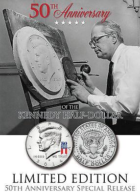 50th Anniversary *SPECIAL 50 YEAR LOGO* 2014 JFK Kennedy Half Dollar US Coin (D)