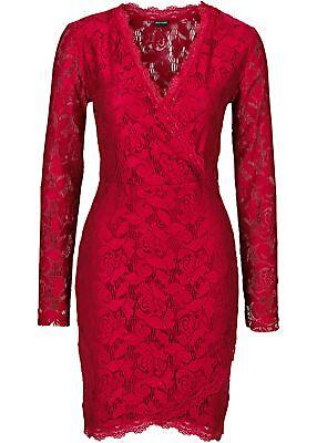 Spitzenkleid Gr. 36/38-40/42-44/46-48/50 Abendkleid Party-Dress Kleid Rot ()