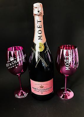 Moet Chandon Imperial Rose Champagner Flasche 1,5l Mag 12% Vol. + 2 Rose Gläser