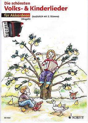 Akkordeon Noten : Die schönsten Volks- & Kinderlieder sehr leicht - lei Anfänger