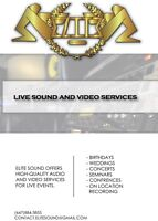 Live sound and video services for all occasions