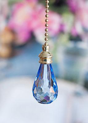 One Acrylic Crystal RainDrop Ceiling Lighting Fan Pull