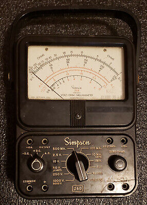 Simpson 260 Series 5 Analog Volt Ohm Milliammeter - Tested