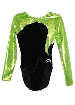 NWT GK Elite Black Gymnastics Leotard Bar Mini Shorts Nylon Spandex Child Adult