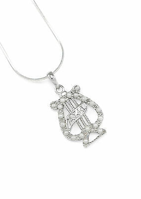 Alpha Chi Omega (AXO) Badge Pendant with simulated pearls | New Sorority Jewelry Alpha Omega Jewelry