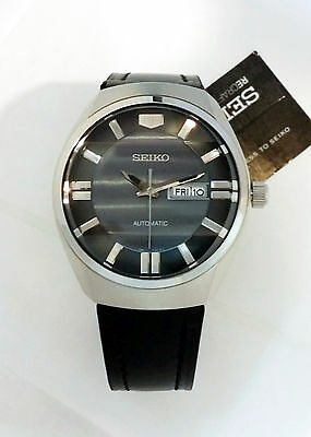 SEIKO Men Recraft Series Automatic Watch Black leather SNKN07 $235 NEW W/ Box