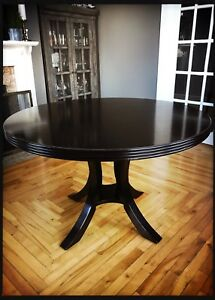 "47"" Diameter Solid wood dining table"