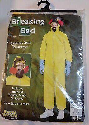 Rasta Imposta Breaking Bad Toxic Hazmat Suit Halloween Costume Cosplay New