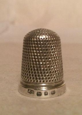 Antique sterling silver thimble James Swann: Hallmarked Birmingham, 1889
