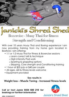 Janicki's Shred Shed -  Personal training ,Muay Thai,Boxing, fitness
