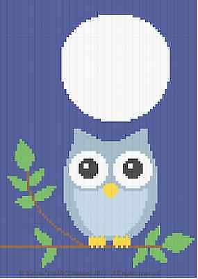 Easy Beginner Crochet Patterns (Crochet Patterns - OWL AT NIGHT Baby Afghan Pattern *EASY/BEGINNER* )