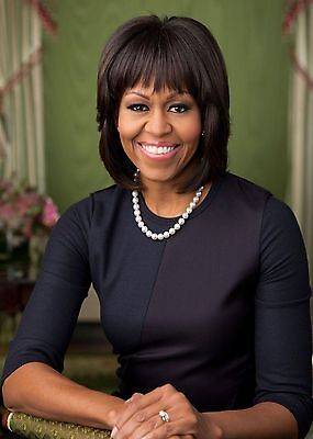 Michelle Obama Official PHOTO Portrait, Barack Obama 1st Lady, White House