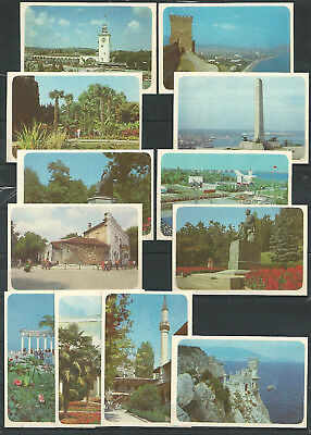 UdSSR 1990 Attractions of Crimea Krim Taschenkalender Set of 12 pocket calendar