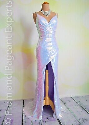 Sequin PROM 2020 EVENING PAGEANT FORMAL BALL GALA DRESS WEDDING GOWN 4