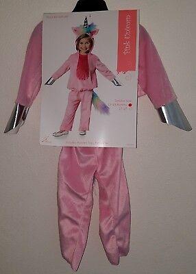 Pink Pants Halloween Costume (NEW Pink Unicorn Halloween Costume Girls 12-18 Months Hooded Top Pants)