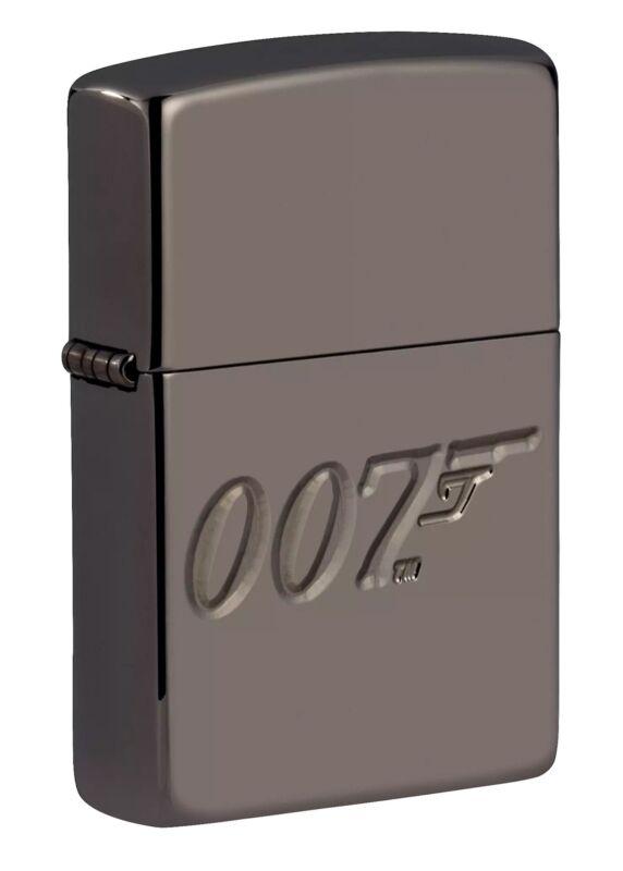 Zippo James Bond 007 Armor High Polish Black Ice Windproof Pocket Lighter, 49283