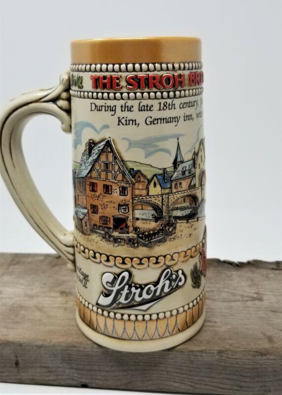 Strohs 1985 Heritage Series II Beer Stein Mug Stoneware