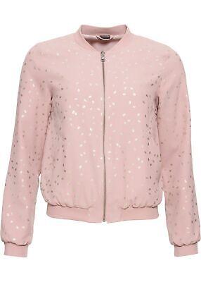 Blouson m Metallic-Print Gr. 40 Rosenholz Roségoldfarben Damenblouson Jacke NEU Rose Print Jacke