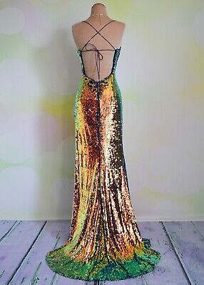 Sequin PROM 2020 EVENING PAGEANT FORMAL BALL GALA DRESS WEDDING GOWN 8