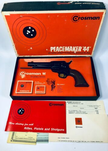 Vintage Crosman Peacemaker 44 .22 Caliber 6 Shot Pellgun Revolver CO2 USA 1972
