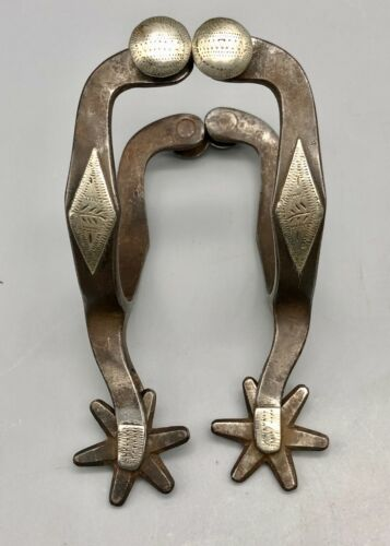 Cowgirl Sized Single Mounted J.R. McChesney Spurs - Pattern #26