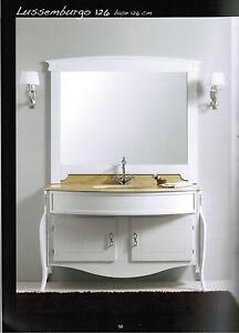 Mobile da bagno con lavabo e specchio in bianco anche in - Rubinetteria bagno bianco oro ...