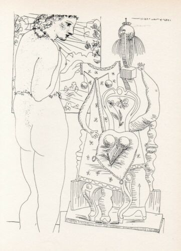 Pablo Picasso, Marie-Thérèse Considering Her Sculpted Surrealist Effigy, 1956