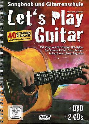 Gitarre Noten Schule : Let's Play Guitar - mit DVD und CD's - Gitarrenschule
