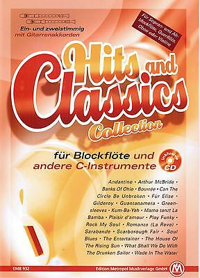 Blockflöte (C Instr.) Noten : Hits and Classics Collection mit CD