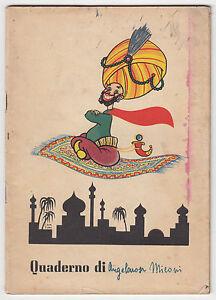 quaderno 1950 aladino e il tappeto volante illustr. cantini -q30