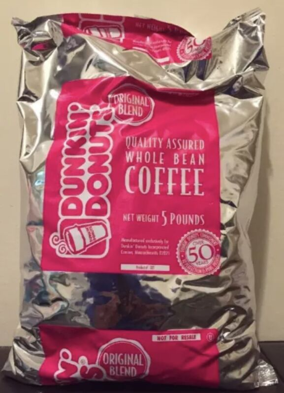 Dunkin Donuts Whole Bean Coffee- 5 Pound