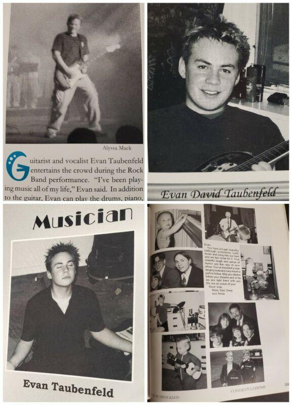 Evan Taubenfeld Senior High School Yearbook Lead Guitarist Avril Lavigne