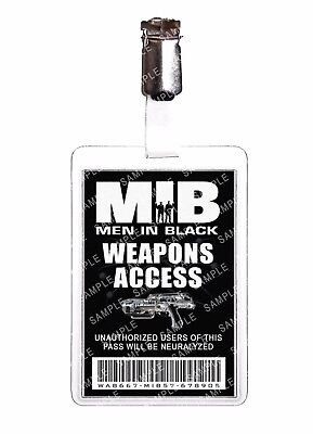 Men In Black Weapons Access ID Badge Agent Cosplay Prop Costume Comic Con