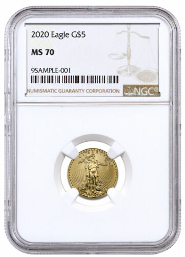 2020 1/10 oz Gold American Eagle $5 NGC MS70 Brown Label SKU59544