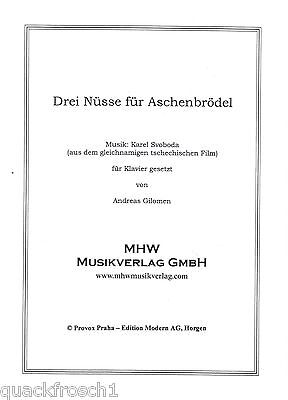 Klavier Noten : Drei 3 Nüsse für Aschenbrödel- mittelschwer (Karel Svoboda Film)