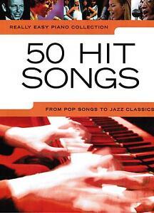 Klavier Noten : 50 HIT SONGS - Popmusik (Really Easy Piano)  leicht - leMittel