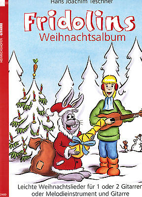Gitarre Noten : Fridolins Weihnachtsalbum (Fridolin) leicht (Weihnachtslieder)
