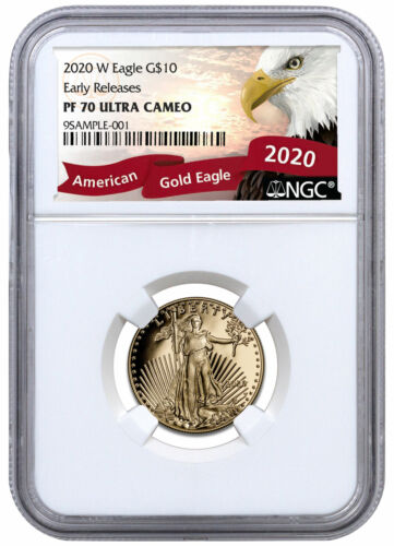 2020W 1/4 oz Gold American Eagle Proof $10 NGC PF70 UC ER Eagle Label