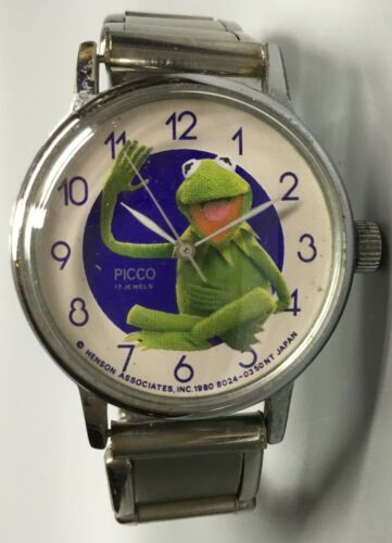 Kermit The Frog Watch - Picco - 17 Jewel - 1980
