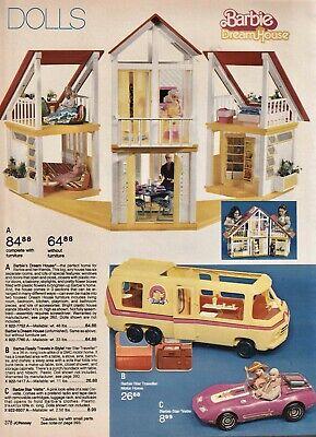 "Vintage 1979 Barbie Doll Dream House, Bus & Car JC Penney Print Ad 8""x11"" JCP378"