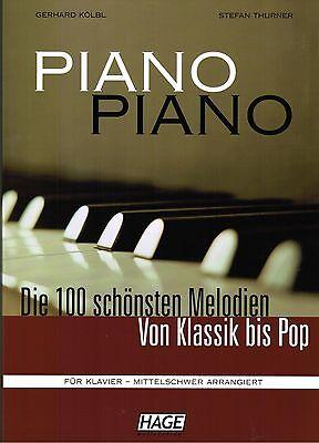 Klavier Noten : PIANO PIANO Band 1 mit CD Ausgabe: MITTELSCHWER- Hage - B-WARE