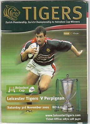 Leicester Tigers v Peroignan 2001/2 (3 Nov) Heineken Cup