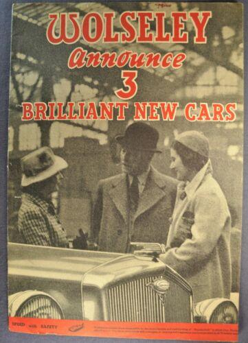 1939 Wolseley Brochure Super-6 Drop-Head Coupe Limousine Excellent Original 39