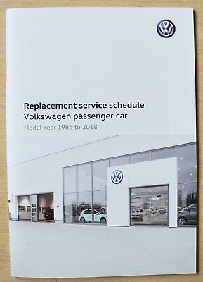 VW GENUINE BLANK REPLACEMENT SERVICE HISTORY BOOK NEW!